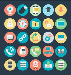 Networking Colored Icons 2 vector