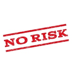 No risk watermark stamp vector