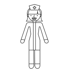 Nurse character isolated icon vector