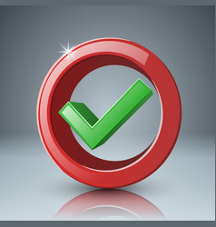 ok yes switch icon abstract business vector image