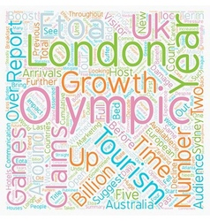 Olympics to damage uk tourism text background vector