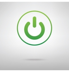 On Off switch Green iconrey backgroud vector