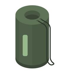 Packed sleep bag icon isometric style vector