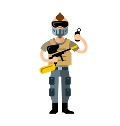 Paintball Player Flat style colorful vector