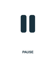 pause icon line style icon design ui vector image