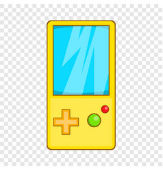 Pocket tetris icon cartoon style vector