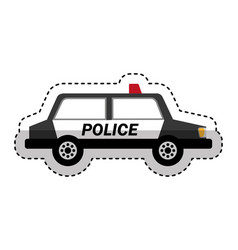 police patrol isometric icon vector image vector image