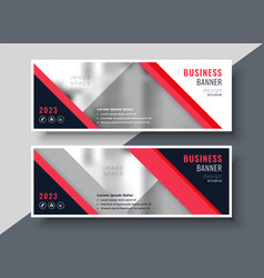 Red theme business banner or presentation vector