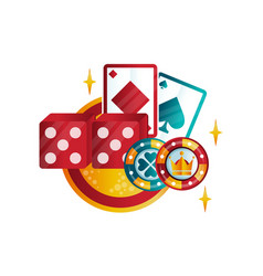 retro emblem for casino or poker club with playing vector image