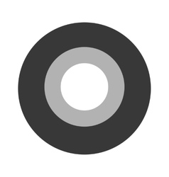Roll of black insulating tape isolated on a vector image