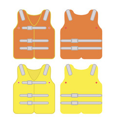 safety vest industrial with reflective strips vector image