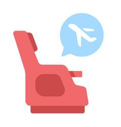 Seat class flat vector