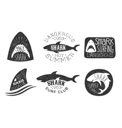 Set logos for a diving club vector