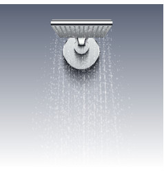 shower head with water drops realistic vector image