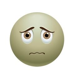 Sick emoticon vector
