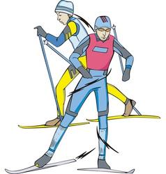 Skiing Skiers vector