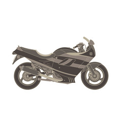 Sport motorbike icon side view isolated extreme vector