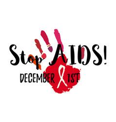 Stop aids vector
