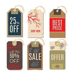 Tags with the sale of Christmas vector