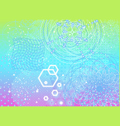 The science and mathematics abstract background vector