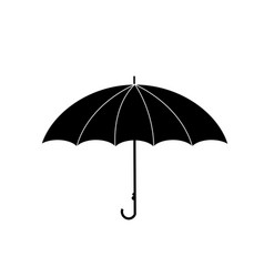 umbrella side view icon isolated on white vector image