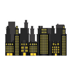 urban cityscape and residential apartments scene vector image