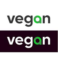 vegan lettering label for market web vector image