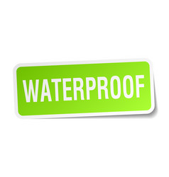 Waterproof square sticker on white vector