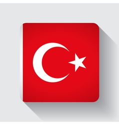 Web button with flag of Turkey vector