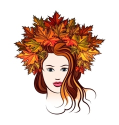 Woman with Leaf Wreath vector