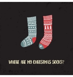 xmas socks1 vector image