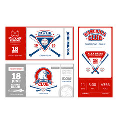 baseball sports ticket design with vintage vector image vector image
