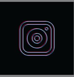 Camera photography neon light brand company vector