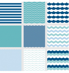 nautical theme seamless pattern background vector image vector image