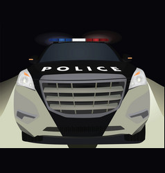 police car by night vector image vector image