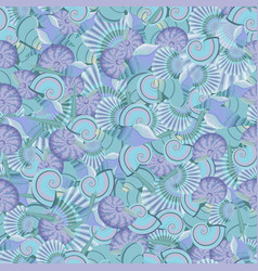 seamless sea shells pattern perfect for vector image