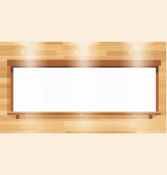 White banner on wooden board vector