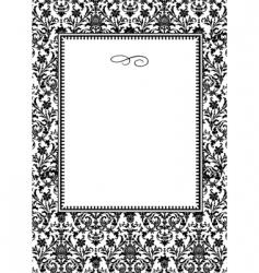 damask frame vector image vector image