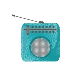 Drawing green radio classic antenna vector