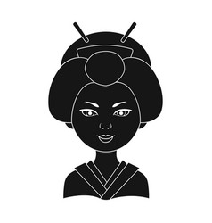japanesehuman race single icon in black style vector image vector image
