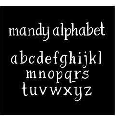 mandy alphabet typography vector image vector image