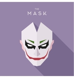 The mask on head of the anti-hero villain style vector image vector image