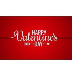 Valentines Day Line Vintage Lettering Background vector image vector image