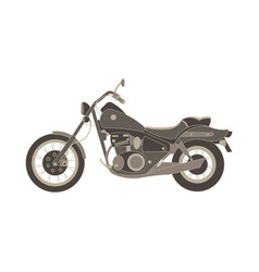 motorcycle flat icon chopper motorbike side view vector image vector image