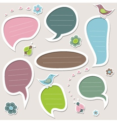 Set of cute text frames vector image vector image