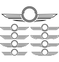 set of insignias vector image vector image