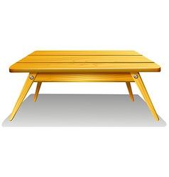 A wooden table vector