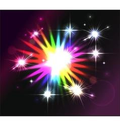 Blue flash shining star vector image