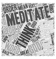 Christian meditation word cloud concept vector
