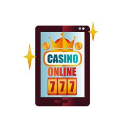 online casino on digital tablet screen slot vector image